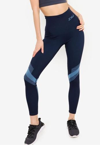 2XU 海軍藍色 2XU Motion Tech 緊身褲 E804FAAD73B26FGS_1