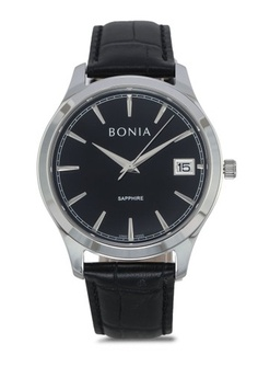 Psst... we have already received your request. BONIA. Bonia BNB10323-1332  Black Leather Watch bd2bc415da