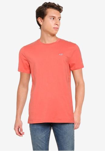Hollister orange Crew Solid T-Shirt 1F65FAAF45F76CGS_1