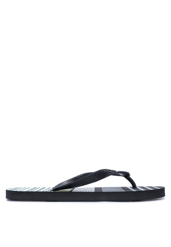BENCH black Printed Rubber Slippers BE550SH22LSZPH_1