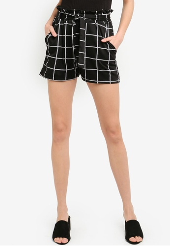 a9b6fd4eed16 Shop Boohoo Tie Belt Checkered Shorts Online on ZALORA Philippines