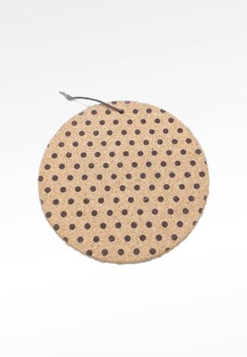 Ayra Home & Living brown Small Polka Dots Kitchen Insulation Cork Coaster 2738AHL1C59447GS_1