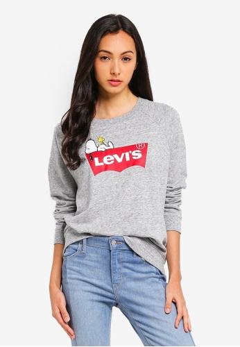 23073b1d Levi's grey Levi's x Peanuts Relaxed Graphic Crewneck Sweatshirt  92A0BAA424C53FGS_1