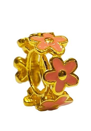 LITZ gold LITZ 916 (22K) Gold Flower Charm 花 GP0193 (0.81g+/-) EFCBCAC1169CA5GS_1