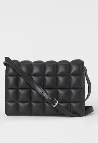 H&M black Quilted Shoulder Bag 0E0C6ACB929E97GS_1