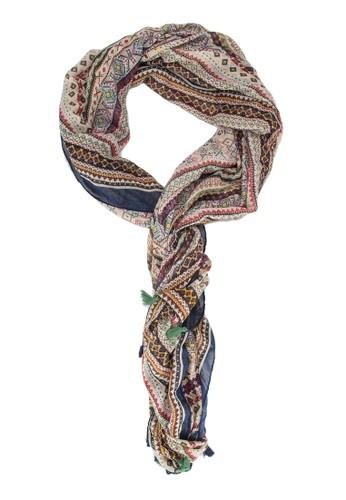 圖樣印花流蘇飾圍巾, 飾品配件, 飾品配esprit分店件