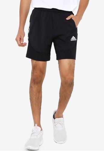 ADIDAS black aero 3s primeblue shorts 2DBA1AA7503DA4GS_1