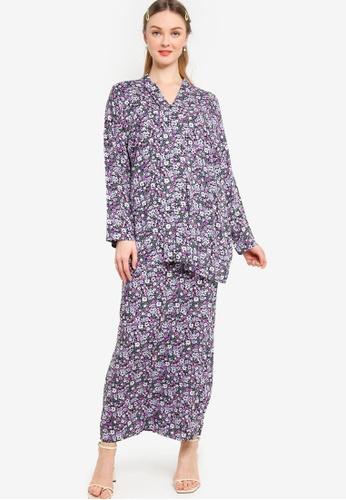 Lubna 黑色 and 紫色 NursingKurung Labuh Modern 5E2A2AAF6038EDGS_1
