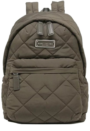 Marc Jacobs green Marc Jacobs Quilted Nylon Backpack Bag in Ash 3A85EACFCC64D2GS_1