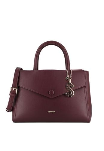 SEMBONIA red Duo-Colour Satchel Bag CF36DAC3DE7609GS_1