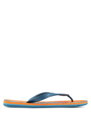 Jack & Jones orange Print Flip-Flops 1CD2BSHF6CA68DGS_1