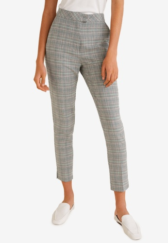 Mango grey Checkered Suit Trousers A6E54AA633029BGS_1