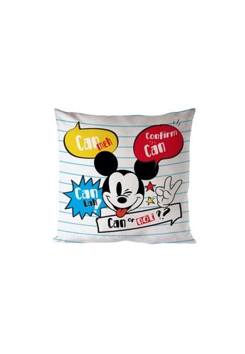 Eurotex Disney Go Local, Cushion Cover, 100% Polyester, 45 x 45cm, Slogan B6E84HL31283B6GS_1