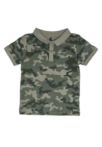 Cotton On Kids green and multi Kendricks Polo Shirt 87C67KAB45DB94GS_1