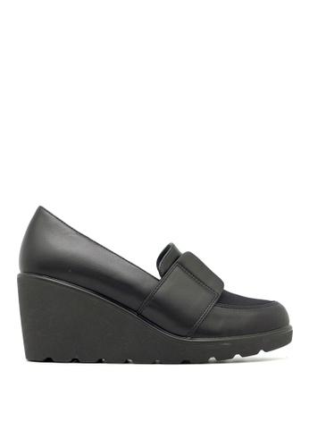 Carlo Rino black Carlo Rino 333010-238-08 Wedges Heel Round Toe Pumps (Black) 34B7BSHBD59B87GS_1