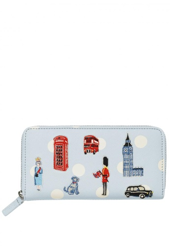 Cath Kidston blue Mini London Icons London Applique Continental DB722AC394609AGS_1