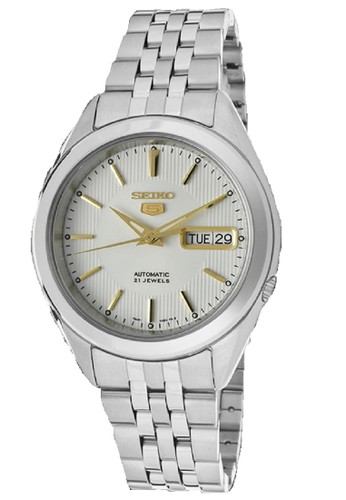 Seiko silver Seiko 5 Automatics 21 Jewels SNKL17K1 Stainless Steel Silver 4019AAC7FC7771GS_1