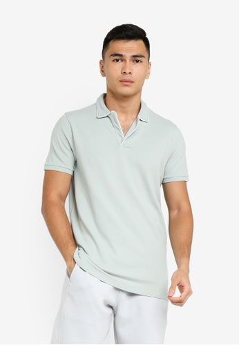 ABERCROMBIE & FITCH green Webex Resort Shop Core Polo Shirt BE37DAAFB02DF1GS_1