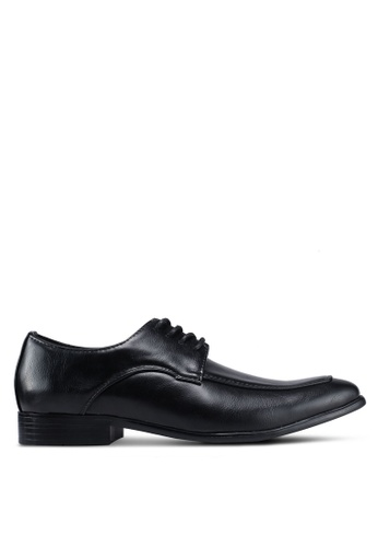 UniqTee 黑色 綁帶經典牛津鞋 A61CFSHC1EFBB3GS_1