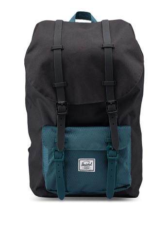 Herschel black Little America Backpack 39B5FACC81F3FCGS_1