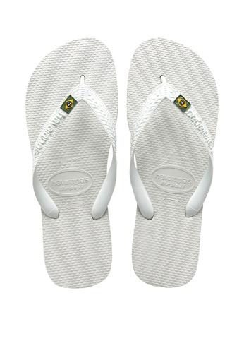 Havaianas white Brasil Flip Flops A916FSH8647095GS_1