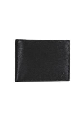 Goldlion black and blue Goldlion Men Leather Wallet (9 Cards Slot, Window Compartment, Center Flap, Coin Pouch, RFID Protection) - Black 4C0D8AC35D4907GS_1