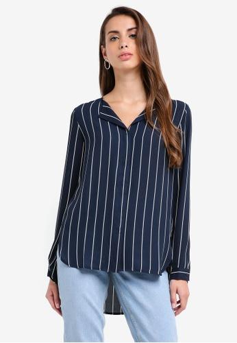 Selected Femme blue Dynella Stripe Shirt 690E9AA4C92EA7GS_1