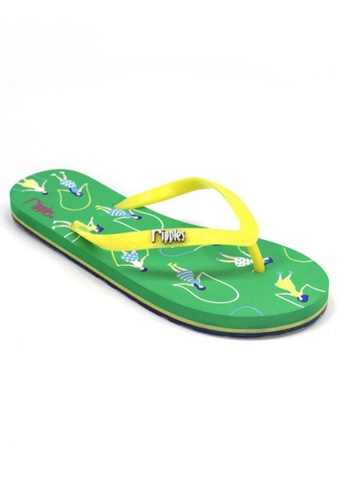 Ripples green Skipping Girls Flip Flops RI425SH94OPTSG_1