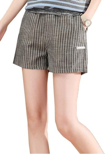 A-IN GIRLS multi Elastic Waist Striped Shorts D23F3AA083FC88GS_1