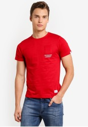 High Cultured red Round Neck Tee HI002AA71TDKMY_1