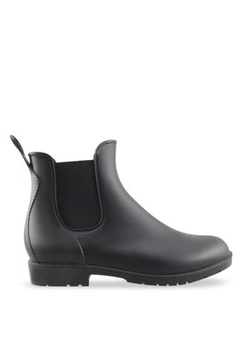 Footspot black FOOTSPOT - Classic Ankle Rain Boots FO296SH2UMW6HK_1