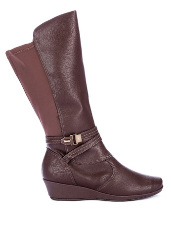 Piccadilly brown Comfort Long Boots 32784SH7F0A174GS_1