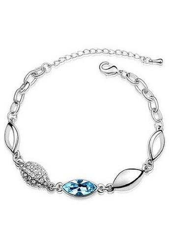 Vivere Rosse blue Blue Eye 18K White Gold Plated Austrian Crystal Bracelet VI014AC45EBIMY_1