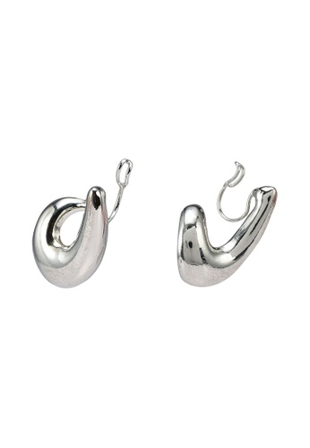 GLOBAL WORK grey Loop Cuffs Earrings D1870ACC1D37A2GS_1