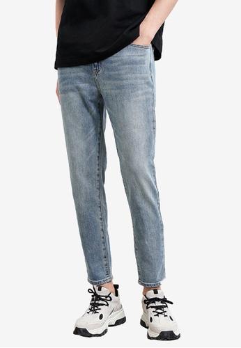 Urban Revivo 藍色 Pale 牛仔褲 3FD6BAAA6E56B1GS_1