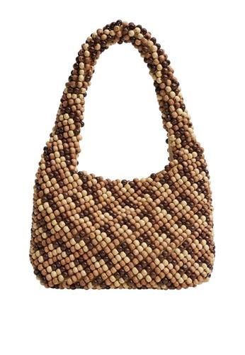 Mango brown Beaded Mini Bag F0217AC6CCFDA0GS_1