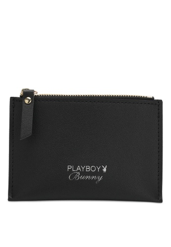 PLAYBOY BUNNY black Women's Short Card Purse With Coin Compartment 96E09AC6402DF4GS_1