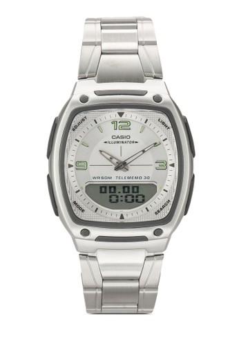 AW-81D-7AVDF 指針電子方框鍊錶, 錶類,esprit tw 飾品配件