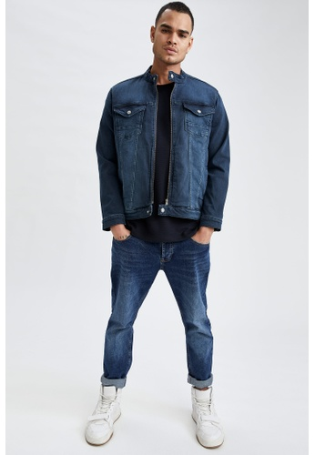 DeFacto grey Slim Fit Denim Jacket 33601AAE3DA5C1GS_1