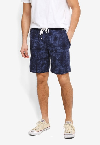 Hollister green Classic Brand Logo Sweat Shorts HO422AA0T1BCMY_1