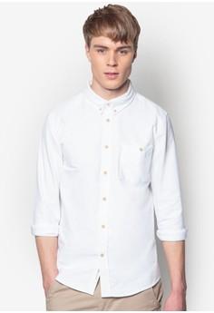 Washed Cotton Curved Pocket Shirt