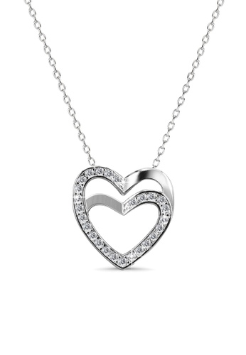 Her Jewellery silver Charm Love Pendant - Licensed Genuine Crystals from Swarovski® HE581AC0RCBCMY_1