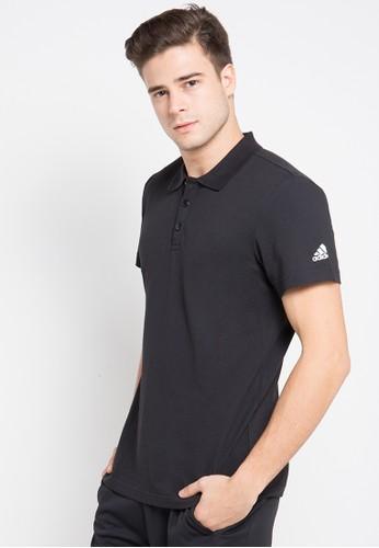 adidas black adidas essentials classics polo shirt AD349AA0U8Z4ID_1