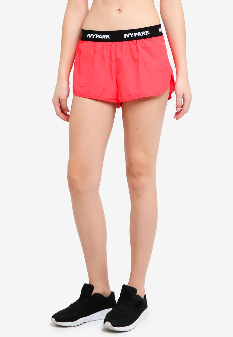 Park Woven Ivy Logo Red Shorts Tape Neon 8wwcFdTfq
