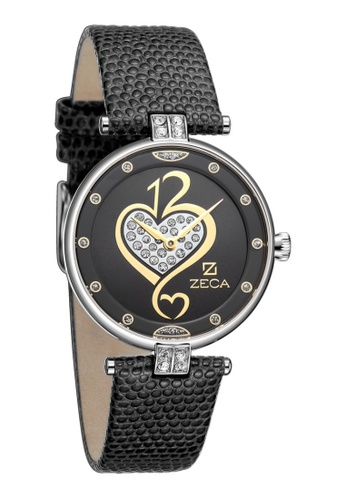 ZECA black and gold Zeca Watches Ladies Fashion Leather Analog - 148L Black Gold ZE260AC42SIRSG_1
