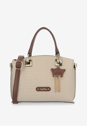 Carlo Rino brown Brown First of Her Name Plaited Handle Tote 27A48AC97B7A66GS_1