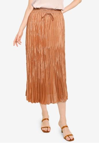 niko and ... brown Pleated Skirt 753DAAABFA5ED6GS_1