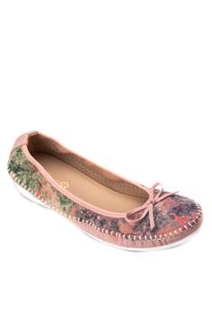 Ballet Flats with Floral Design