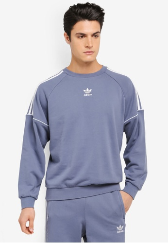 adidas grey adidas originals pipe crew sweat AD372AA0SSNBMY_1