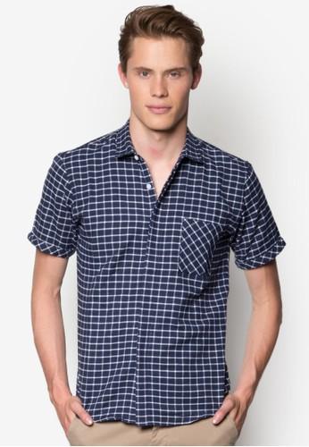 格esprit taiwan紋修身短袖襯衫, 服飾, 短袖襯衫